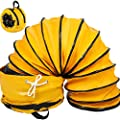 Mophorn 25 Ft PVC Flexible Duct Hosing for 10 Inch Exhaust Fan with a Bag (10 Inch 25 Ft)