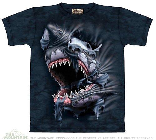 Breakthrough Shark T-shirt Adults Medium Cotton Short Sleeve Shirt