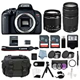 Canon EOS Rebel T7i Bundle with EF-S 18-55mm is STM & EF-S 75-300mm III Lens + Canon T7i Camera Advanced Accessory Kit - Including to Get Started