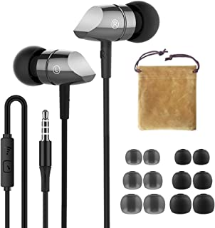HIFI WALKER A1 High Resolution in-Ear Headphones (Earphones Earbuds Noise Attenuation Headset) with Remote Control and Mic...