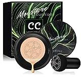 Air Cushion CC Cream Mushroom Head Foundation, Firstfly Moisturizing BB Cream Makeup Long Lasting Matte Concealer (Natural)