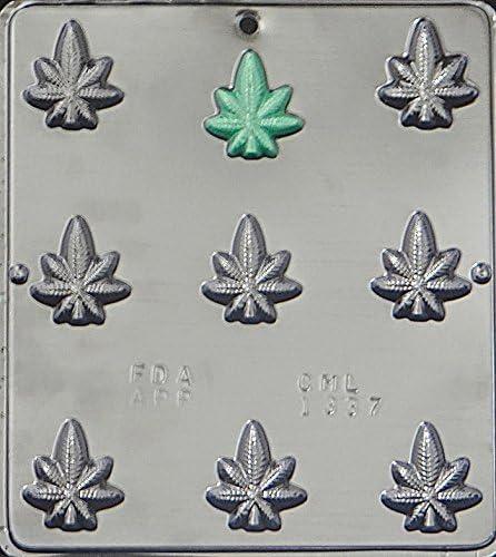 Marijuana Leaf Pot Bite Size Mold 1337 Candy Chocolate Rare Department store