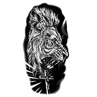 タトゥーシール 大判 刺青シール メンズ 防水 タトゥーステッカー ライオン 虎 動物 ボディーシール 長持ち 入れ墨シール 腕 足 体 胸 肩 背中に簡単貼る アートステッカー