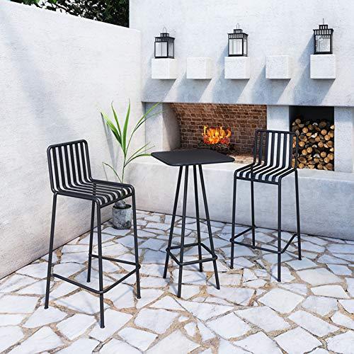 Household items Schmiedeeisen Balkon Tisch und Stuhl Kombination Außenterrasse Terrasse Freizeit Tisch und Stuhl, Hochstuhl Verhandlungstisch Bistro-Kit, für Garten/Rasen/Garten Schwimmbad verwendet