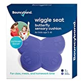 """Shaped Wiggle Seats by Bouncyband–Purple Butterfly, 13""""x11""""x2.2""""–Inflatable Sensory Cushion for Kids, Improves Student Productivity and Focus, Comes with Easy-Inflation Pump to Customize Firmness"""