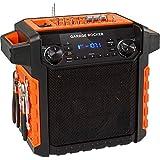 ION Audio Garage Rocker Wireless Worksite Speaker with Tool Storage (Orange) (Renewed)