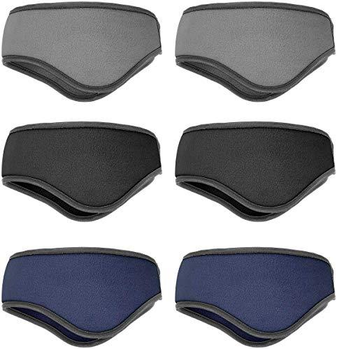 ANPHSIN 3色 6pcs イヤーウォーマー ヘッドバンド ヘアバンド 耳あて 耳当て 耳マフラー 防寒 防風 冬 ランニング ジョギング サイクリング ハイキング (メンズ)