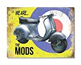 Wise Degree Vespa Scooter We Are The Mods Metal Tin Sign