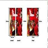 WENYAO Türaufkleber Valentinstag Rote Rose Schokogeschenk Selbstklebender transplantierbarer Badezimmeraufkleber 77 x 200 cm