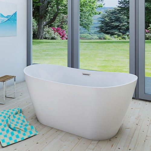 AcquaVapore freistehende Badewanne Wanne Acryl FSW03 180x80cm Armatur wählbar, Armatur:ohne Armatur +0.-EUR
