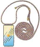 Mi-Case MiCase Funda con Cuerda para Xiaomi Mi 5X / Mi A1, Carcasa Transparente TPU Suave Silicona Correa Colgante Ajustable Collar Correa de Cuello Cadena Cordón - Arco Iris