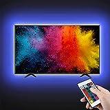 LED TV Hintergrundbeleuchtung, opamoo LED Strip 2M USB Streifen LED Beleuchtung mit 24-Key...