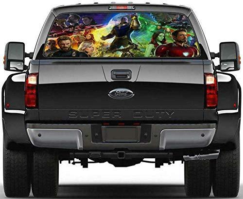 Pegatinas de pared Superhéroe Etiqueta engomada de la ventana trasera auto camión vehículo todoterreno