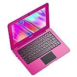 TOPOSH - Ordenador portátil Mini Notebook de 10,1 pulgadas, 2 GB de RAM + 32 GB SSD Intel Atom X5-Z8350 Quad-Core gráfico de 1,92 GHz, portátil con teclado QWERTY, color rosa