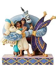 Disney Tradition Aladino Figurina, Resina, Multicolore, 12 x 12 x 25 cm