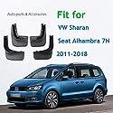 unknow Auto Schmutzfänger Spritzschutz Kotflügel Kotflügel Schmutzfänger, Für VW Sharan Seat Alhambra 7N 2011-2018