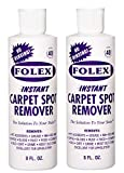 Folex Carpet Spot Remover - 8oz Instant Stain Remover for Carpets, Rugs, Upholstery and Clothing-2 Pack