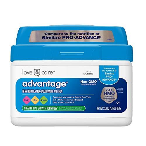 Love & Care Advantage Non-GMO* Infant Formula Milk-Based Powder with Iron, 23.2 Ounce