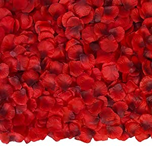 Ouddy 3000 Pcs Rose Petals Artificial Flowers Silk Petals for Wedding Decor Silk Rose Petals for Valentine's Day Romantic Night Engagement Party Decorations