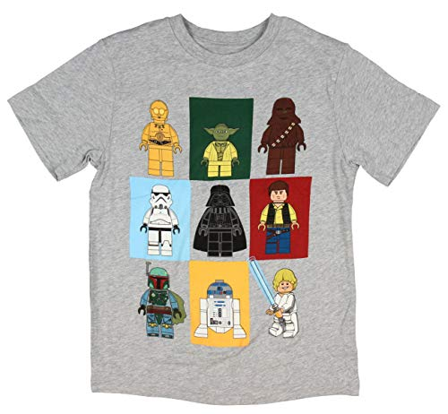 Star Wars Les Jeunes Personnages Lego garçons Manches Courtes T-Chemise (5/6)