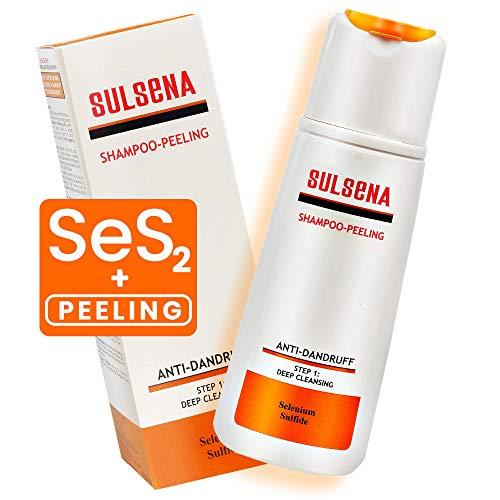 Sulsena Peeling-Shampoo Haar-Peeling-Shampoo – Antischuppenshampoo gegen juckende Kopfhaut und Schuppenflechte – Schuppen-Shampoo für Männer und Frauen – Tiefenreinigungs-Shampoo – 150 ml