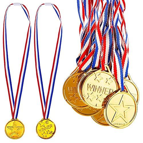 Medallas Doradas para niños,Set de 36,para ganadores de Oro olímpico,Regalos para niños y Fiestas