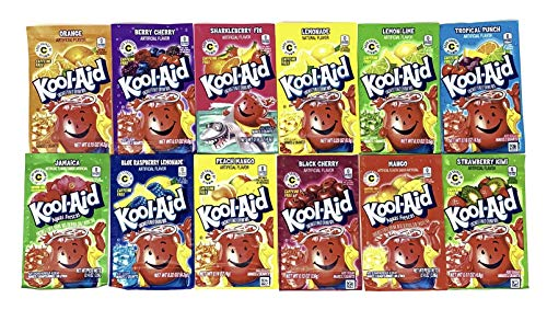 Kool-Aid Drink Mix Packets Variety Pack of 12 Flavors (1 of each flavor, Total of 12)