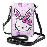 Hello Kitty cartoon simpatico portacellulare da donna borsette a tracolla borse leggere borse da donna in pelle custodia per cellulare Wal