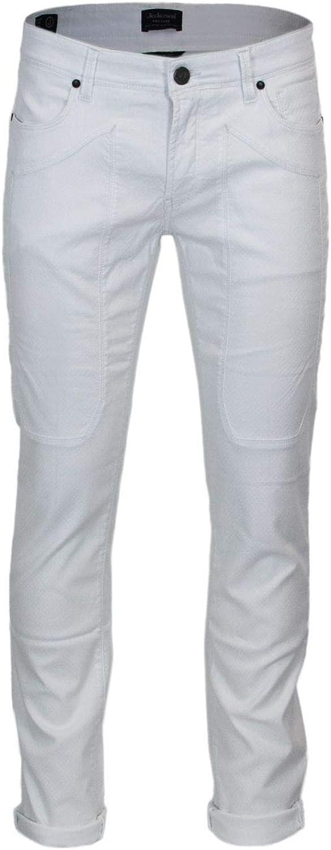 JECKERSON Men's 34PCJUPA77ST17911 White Cotton Pants