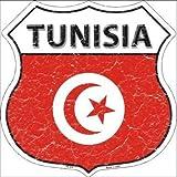 daoyiqi Aluminiumschild, Blechschild, 30,5 x 30,5 cm, Tunesien-Flagge, Highway Shield Metallschild