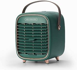 Ventilador De Aire Acondicionado Portátil, Velocidad De Viento Ajustable Por USB Nuevo Ventilador De Refrigeración De Espacio Personal Retro-para Oficina, Hogar, Dormitorio, Viaje, Dormitorio, Camping