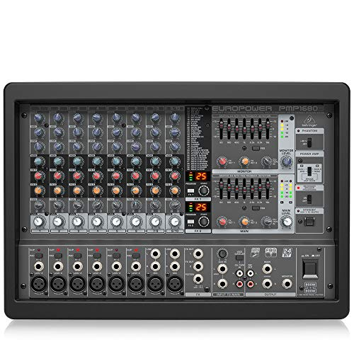Behringer Europower PMP1680S 1600-Watt 10-Channel Powered Mixer. Buy it now for 456.90