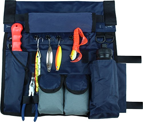 Reling Tasche Boots Tasche in Blau mit breitem Klettband für 2 bis 3 Ruten