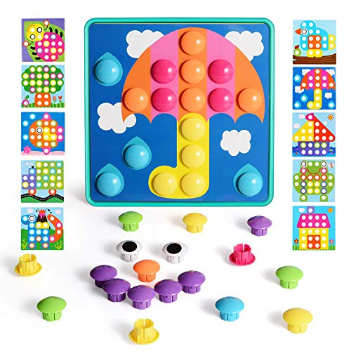NextX Puzzle 3D Tablero de Mosaico Infantiles, Puzzles Infantiles Juguetes 3+ años,Juguete Educativo de Primera Infancia  46 Piezas