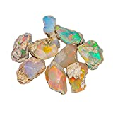 Jaguar Gems Raw Opal Roher Edelstein, äthiopischer Opal, Großhandel, Welo Opal, Geburtsstein (25 kt)