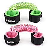 [2 Pack] Anti Lost Wrist Link, Zooawa Child Working Safety Harness Hook and Loop Wrist Leash Child Rope Leashes for Kids and Toddlers, 1.5M Fluorescent Pink + 1.8M Fluorescent Green