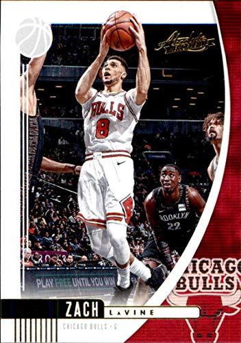 2019-20 Panini Absolute Retail #32 Zach LaVine Chicago Bulls Basketball Card