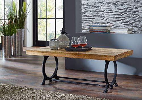 Table basse 120x60cm - Fer et bois massif recyclé laqué - INDUSTRIAL #35