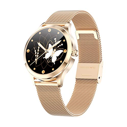 Mujer Reloj Reloj Elegante para Mujer De Moda, Múltiples Modos Deportivos, Reloj Deportivo Impermeable (Color : Gold)
