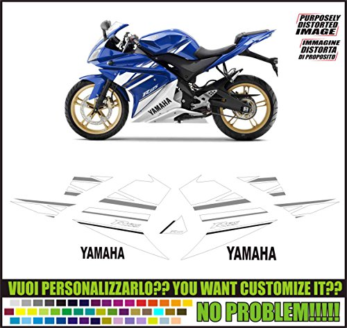 Emanuel & Co Kit adesivi Decal stikers Yamaha YZF r125 2010(Ability to Customize The Colors)