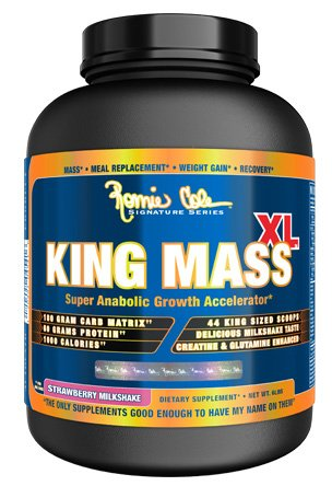 RCSS King Mass Gainer Kohlenhydrate Muskelaufbau Protein Eiweiß´Proteinshake Eiweißshake Bodybuilding (2700g Strawberry - Erdbeere)