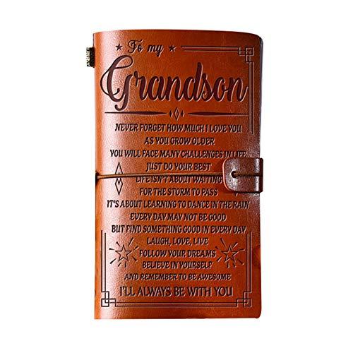 XIHUANNI Cuaderno de notas de diario, diario grabado vintage, cuaderno retro de piel sintética, papelería regalo diario diario diario para oficina escuela nosotros