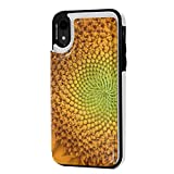 IPhone XR Wallet Case,Premium Card Holder Case Leather Protective Cover For IPhone XR Magnetic Clasp Buttons Flip Shockproof Protective (Sunflower In Full Bloom )