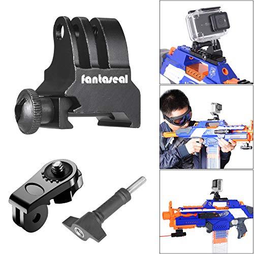 Picatinny - Supporto per pistola, in lega di alluminio, adattatore per pistola Airsoft, compatibile con GoPro 8, 7, 6, 5, 4, 3, 3+, fotocamera Sony