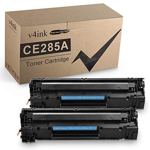v4ink Cartucho de tóner Compatible para HP CE285A 85A 35A 36A Canon 125 (Negro, 2 Unidades) para su Uso en HP Laserjet Pro P1102...