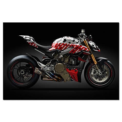 Póster de Motocicleta Street Fighter, impresión en Lienzo, Arte de Pared Moderno, Pintura, Cuadro de Pared para decoración de Sala de Estar-Sin marco40x60cm