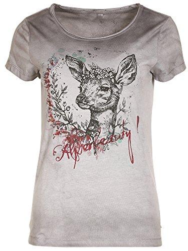 MarJo T-Shirt Alpenbeauty REH grau Trachtenshirt (grau, XL)