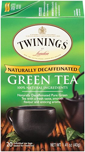 Twinings of London Decaffeinated Green Tea Bags, 20 Count (Pack of 6)