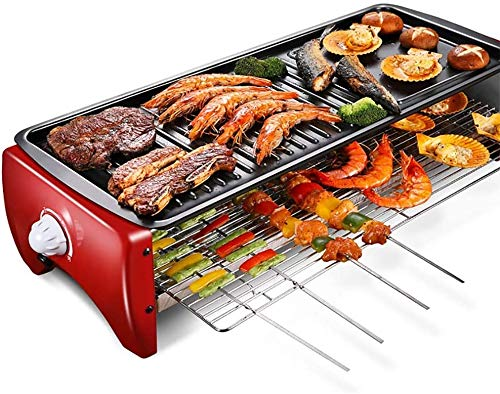ZHLFDC Praktische Rauchfreie Design Große Kapazität Elektrogrill, 1800w Barbecue Grill, Energiesparen Energiesparen, leicht zu reinigen Entwurf, 220 V, 54 cm L x 20 cm W X 14cm H