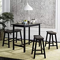 4-Piece Safavieh Haley Pub Set (Black / Brown)